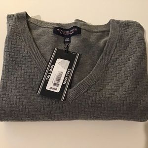 Sweater Vest 2XT Gray NWT Roundtree & Yorke
